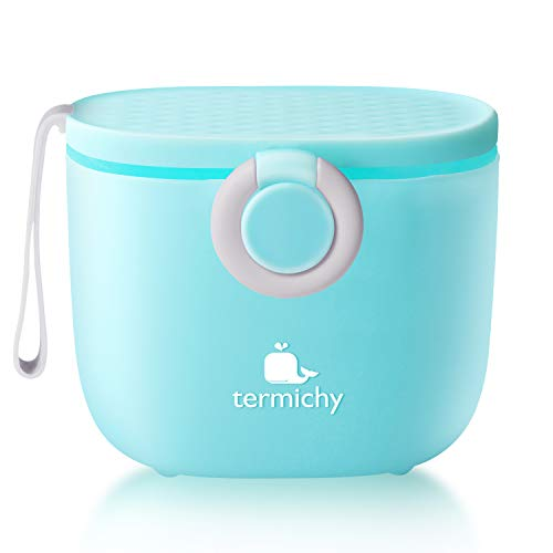 Termichy Baby Formula Dispenser, Portable Milk Powder Dispenser Container with Carry Handle and Scoop for Travel Outdoor Activities with Baby Infant,...