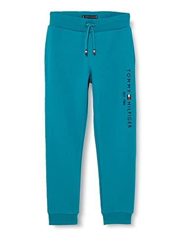 Tommy Hilfiger Essential Sweatpants Pantaloni da Tuta, Breakaway Teal, 10 Anni Bambino