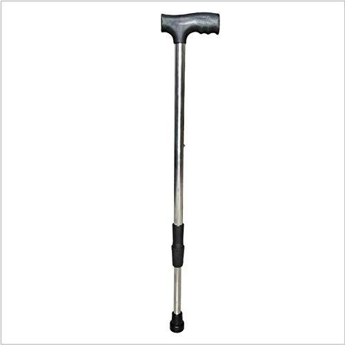 GCE Bastón de Acero Inoxidable de una Sola Pierna para Ancianos Andador de bastón de Altura Ajustable Adecuado para Ancianos y Personas con dificultades para Caminar