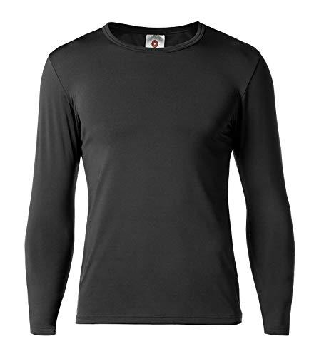 LAPASA Camiseta Térmica Pack de 1 Manga Larga para Hombre. -Brushed Back Fabric Technique- M09 (S (Largo 66, Manga 56, Pecho 89-94 cm), Negro x1)