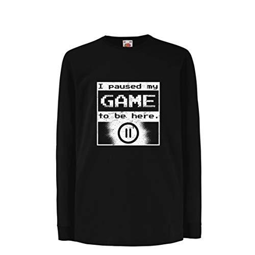 lepni.me Kids T-Shirt Ik pauzeerde mijn spel om hier te zijn Shirt, Gamer grappig cadeau