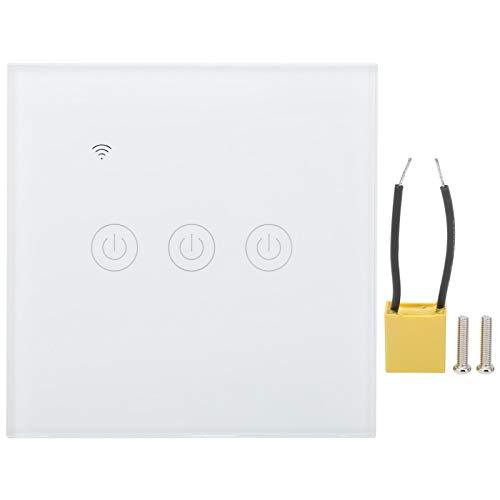 Interruptor WiFi inteligente, interruptor de luz funciona con Alexa y Google Assistant, control remoto inalámbrico para teléfono móvil DS ‑ 101‑3 de 3 vías 200‑240VAC