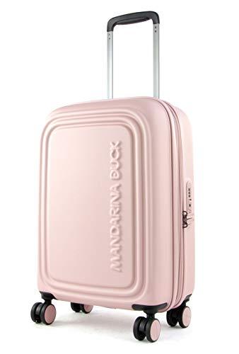 Mandarina Duck Logoduck + Valigia trolley (4 ruote) rosa 55 cm