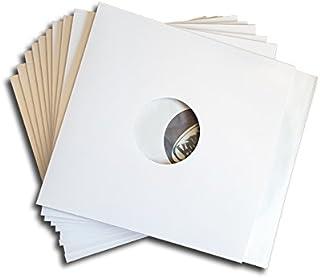 CUIDATUMUSICA 25 Fundas/Carpetas Exteriores de Carton Blanco para Discos de Vinilo LP/Ref.3078 - Marca Cuida Tu Musica -