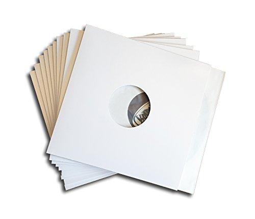 LP Schallplatten Cover Mittelloch weiß Protected (25 Stück)