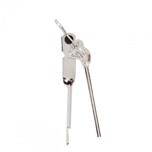 Westmark Zangendosenöffner mit Kapselheber, Länge: 14,8 cm, Stahl, Standard, Silber, 10302270