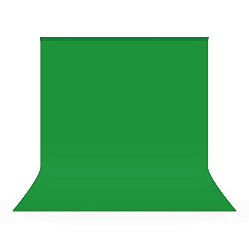 UTEBIT Fotografie Hintergrund 2.5x2.5m / 8x8ft Greenscreen Grüner Fotohintergrund Backdrop Faltbare Fotoleinwand Widerstand Polyester Background für Hintergrundstand Foto-Videofotografie