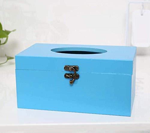XUSHEN-HU Tejido caja de pañuelos de almacenamiento caja titulares de tejido tejido caja de madera creativo de la sala Mesa de Hogares de la servilleta Caja de almacenamiento de madera maciza simple C