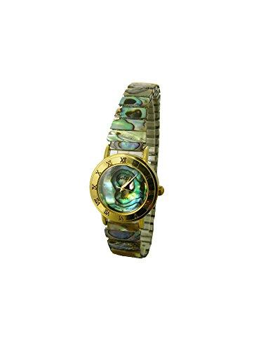 Abalone Shell Fashion Analog Watch with Expansion Band