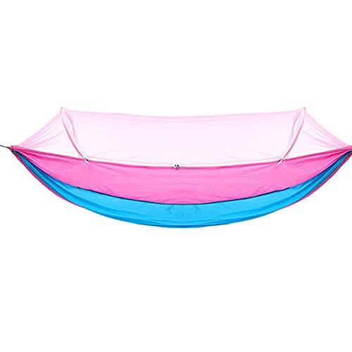 HLYT-0909 Amaca da Campeggio con Rete Paracadute Leggera Portatile Singola Doppia per Il Tempo Libero Swing Rope Amaca per Spiaggia, Zaino in Spalla, Viaggi, Cortile,#4,240 * 120CM
