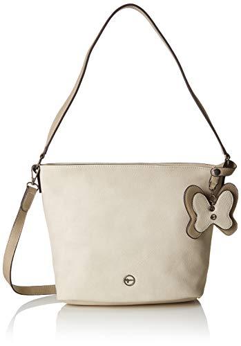 Tamaris Damen Aurora Hobo Bag S Schultertasche, Weiß (Off White Comb), 3x29x35 cm
