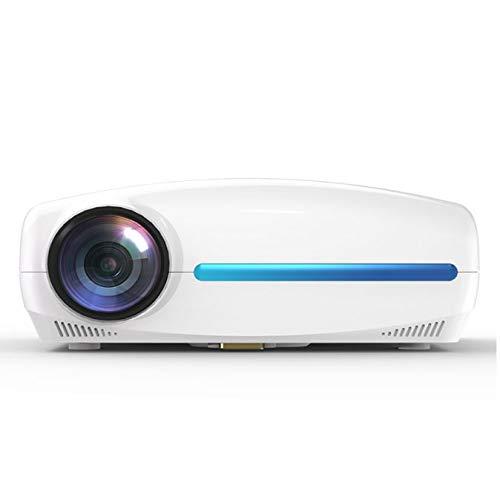 ZOUSHUAIDEDIAN Proyector de proyector, 1080p y 200 '' Pantalla, proyector de películas portátiles con 30,000 Horas de Vida LED, Compatible con PS4, HDMI, VGA, TF, AV y USB, proyector multifunción