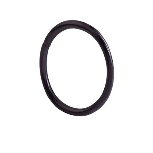 Hkldm Anillo de Oro de los septos Abierto Pequeño Separador Pendiente Hombres Mujeres Que perforan la joyería del oído-Nariz Cadena Corporal (Color : Black, Size : 1.2 10mm)