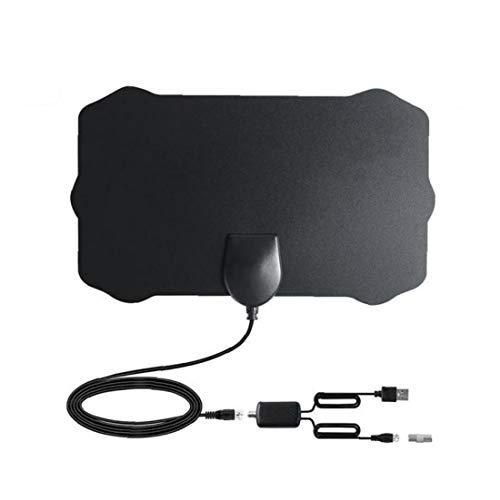 Ohomr Antena de TV Digital HDTV Cubierta Amplified Antenas TDT Arial 980 Millas de Alcance presión de la señal del Amplificador para los Canales Locales Negro