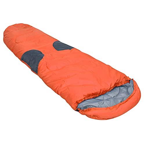 Tidyard Saco de Dormir para Acampar Saco de Dormir Adulto Bolsa de Dormir Portátil para Viajes Camping Senderismo Naranja -5℃ 2000g