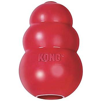 Besoins Instinctifs: Le jouet en caoutchouc rouge KONG Classic aide à satisfaire les besoins instinctifs des chiens et leur procure une stimulation mentale. Le jeu sain est important pour le développement physique et mental, les émotions et le compor...