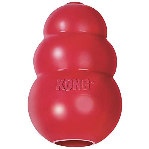 KONG - Classic Gioco Cani, Gomma Naturale Resistente - Masticare, Inseguire e Riportare - per Cani di Taglia Grande