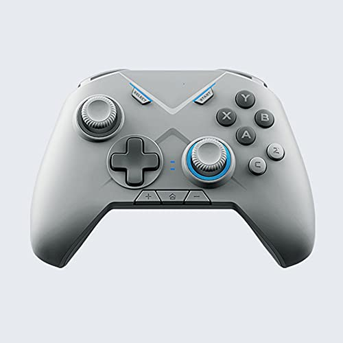 Zexrow Mando para Nintendo Switch, Mando Pro Controller Mando Pc Inalambrico con Función Gyro Axis/Dual Shock Y Turbo Compatible con Nintendo Switch (Color : Gray)
