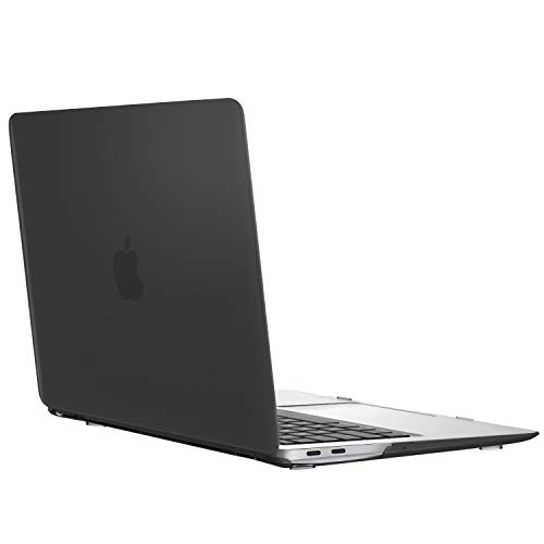 MoKo MacBook Air 13 Inch Case 2018 Model A1932, Slim PC Hard Shell Protective Cover Snap On Matte Frosted Case Compatible with New MacBook Air 13 2018 with Retina Display - Translucent Black