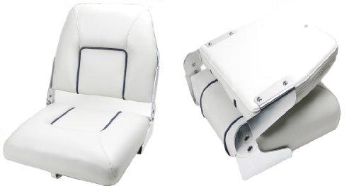 wellenshop Bootssitz Steuerstuhl Klappsitz klappbar Weiß Bootsstuhl