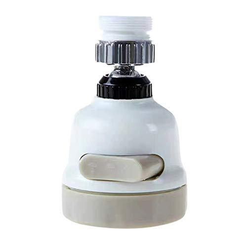 Rotable Ajustable 360 Grados de rotación Faucet Filtro Boquilla Booster Booster Ducha Agua Ahorro Boquilla Tap Tap Filter Hogar Cocina Accesorio (Color : White)