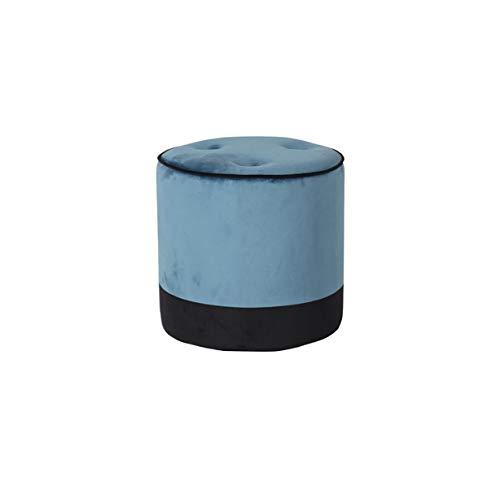 Pirouette Paris zitzak, velours, glad, eenkleurig, blauw en zwart, Ø 42 cm