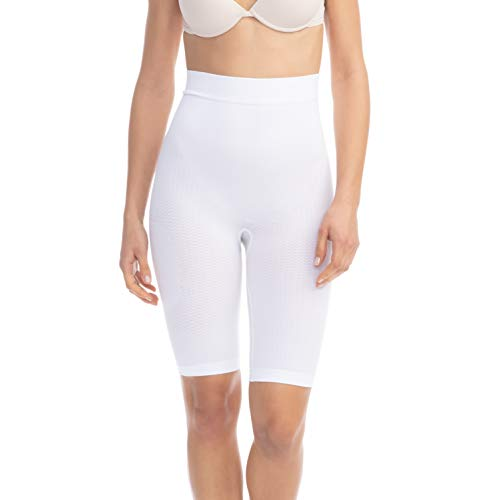 Farmacell 312 (Weiss, S/M) Figurformende massierende Miederhose Anti Cellulite
