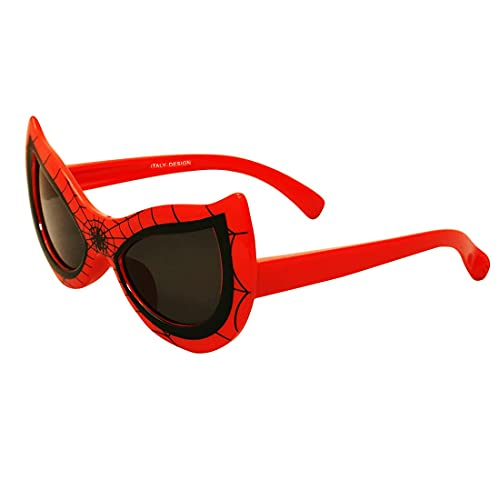 Elegante UV Protected Kids Spiderman Sunglasses for Boys and Girls Baby (4+) (C4 - Red)