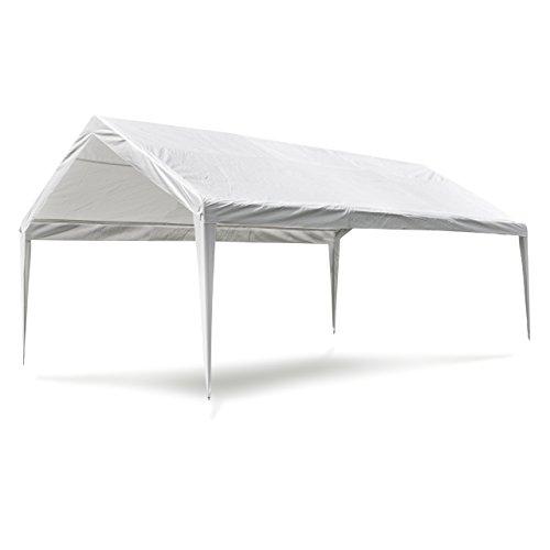 Nexos Pavillondach/Ersatzdach/Wechseldach/Dachbezug für Partyzelt Festzelt Zelt 4x6m - Dachplane 180g/m² PE wasserdicht – Farbe: weiß