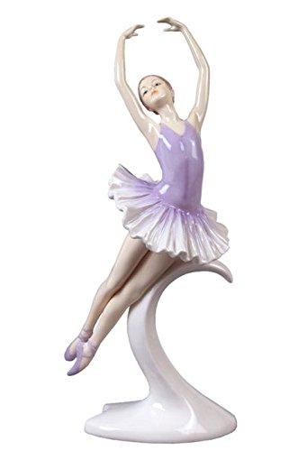 27 cm Porzellanfigur Junge Ballerina in Pas De Poisson