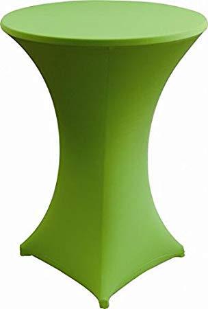 Gastro Uzal Stehtischhusse Stretch Home-Line in grün 80-85 cm rund, Husse für Stehtisch Tischhusse überwurf Bistrotischhussen Stretch