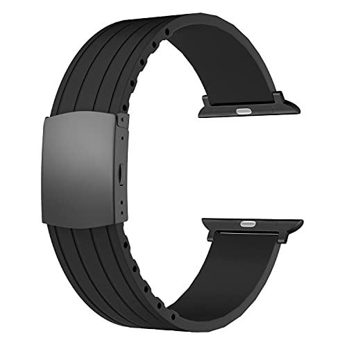 SOUWILA Compatible con Silicona Correa Reloj 38 mm 40 mm