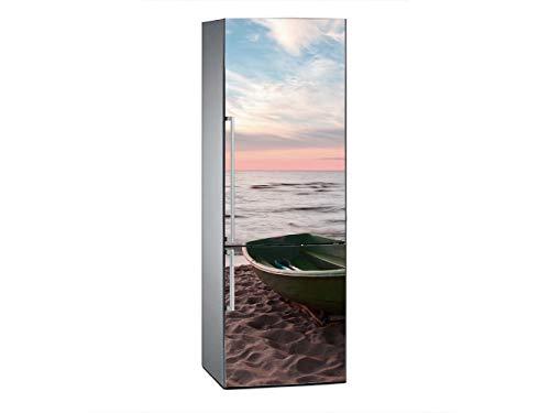 Oedim Vinilo para Frigorífico Puesta de Sol en la Playa 185x60cm   Adhesivo Resistente y Económico   Pegatina Adhesiva Decorativa de Diseño Elegante