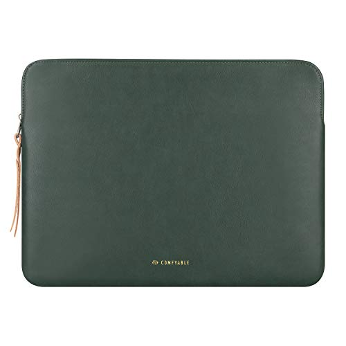 Comfyable Tablet Sleeve for 12.9 inch iPad Pro 2020 with Magic/Smart Keyboard - PU Leather Bag Waterproof Slim Protective Cover Case with Pencil Holder- Midnight Green