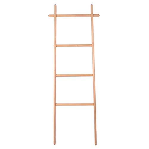 Handdoekhouder Ladder, Modern Handdoekenrek Met,4 Bars Gemaakt van Duurzaam Beuken, Praktische Badkamer Accessoire Voor Handdoeken Of Bad Handdoeken, 170 * 45CM (Breedte Kleur)