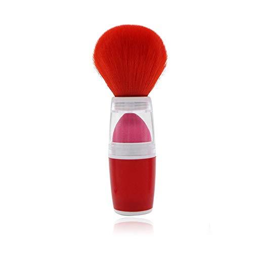Brosses Brosse cosmétique à double usage de base de voyage de Kabuki de brosse pour la poudre de Blush Bronzer Maquillage pour les femmes (Color : Rouge, Size : Libre)