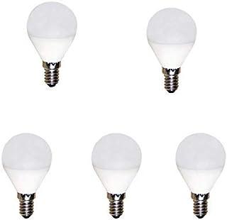 BOMBILLA LED ESFERICA 5W 220-240V E14 6400K 5 (Pack)