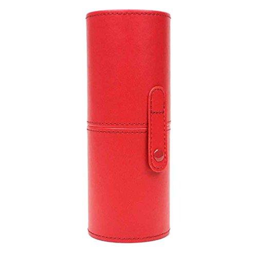 ELENXS Nouveau PU Cuir cosmétiques Porte-gobelet Case Portable Maquillage Boucle Voyage Pinceau Vide Boîte de Rangement Organisateur 5#