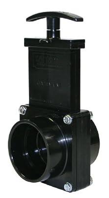 "Valterra 7201 ABS Gate Valve, Black, 2"" Slip by Valterra Products"
