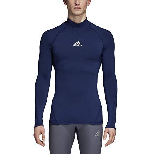 Adidas Climawarm - Camiseta Deportiva de Manga Larga para Hombre, Camiseta de fútbol Alphaskin Sport de Manga Larga Climawarm, Hombre, Color Azul Oscuro, tamaño Extra-Small