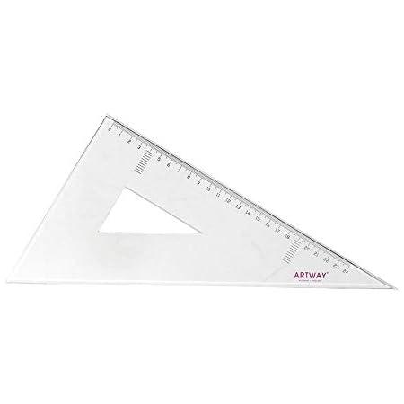 30 cm Artway /Équerre ajustable en acrylique