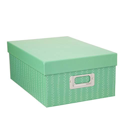 Darice Decorative Photo Storage Box: Green Stripes