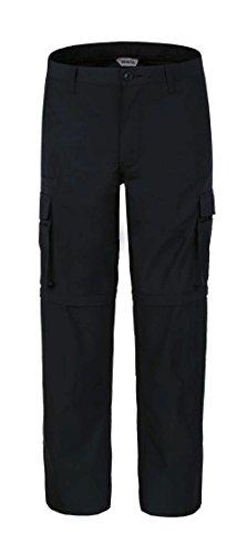 Bienzoe Pantalones de senderismo para hombre, de secado rápido, impermeables, convertibles - negro - 34W x 34L