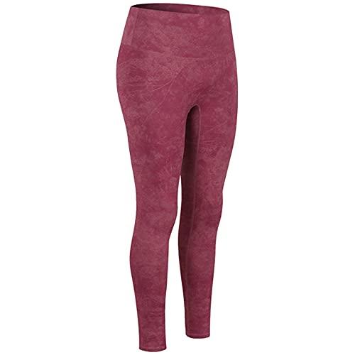 Leggings Mujer,Pantalones de yoga impresos europeos y americanos para mujeres Sin línea vergonzosa Pantalones de chándal de estiramiento alto para levantar la cadera Pantalones de yoga al aire libre-