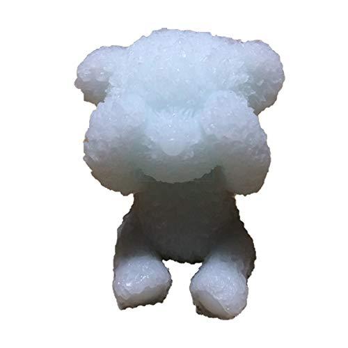 ZIUKENR Molde de vela de oso pequeño, molde de silicona de vela de oso 3D hecho a mano de jabón molde de chocolate caramelo de resina epoxi molde