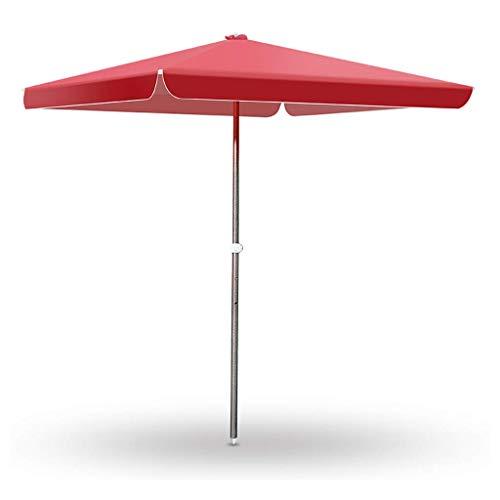 AWJ Sombrilla de jardín Rectangular, Parasol, UV50 +, protección Solar, sombrilla de Playa/sombrilla de Pesca, para jardín, balcón, Patio (sin Base)