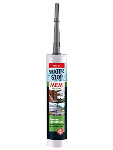 MEM Water Stop - 290 ml - Bitumen-, silikon- und lösemittelfrei - Dauerhaft elastische Feuchtigkeitssperre - Dichtet sofort - Schnell, einfach, sicher - Rissüberbrückend - 30616453