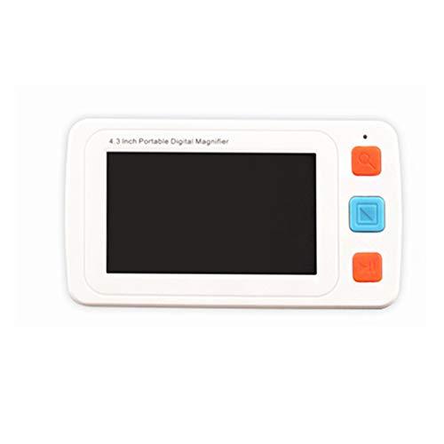 Vergrößerungsglas - Tragbares digitales High-Definition-Vergrößerungsglas mit hellem Zoom Altes Lesefoto Hochpräzise Presbyopie Schwache visuelle Farbe Schwache Elektronische Sehhilfe Umschaltbare Tel