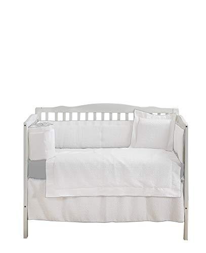 Best Price Baby Doll Bedding Luxury 4 Piece Crib Bedding Set (Bumper, Sheet, Crib Skirt, Quilt) Eleg...