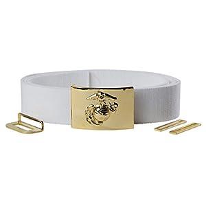 USMC White Dress Belt & Buckle
